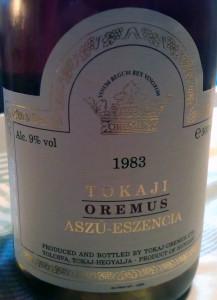 1983 Oremus Tokaji Aszu-Eszencia