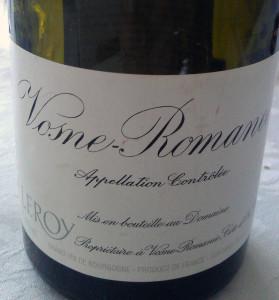 2004 Leroy Vosne-Romanée