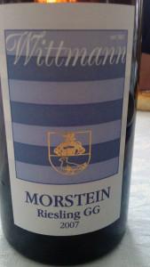 2007 Wittman Morstein riesling GG