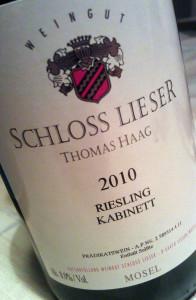 2010 Schloss Lieser Kabinett