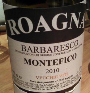 Roagna barbaresco Montefico VV 2010
