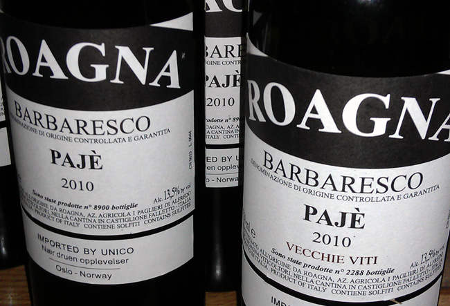 Roagna Barbaresco Paje 2010