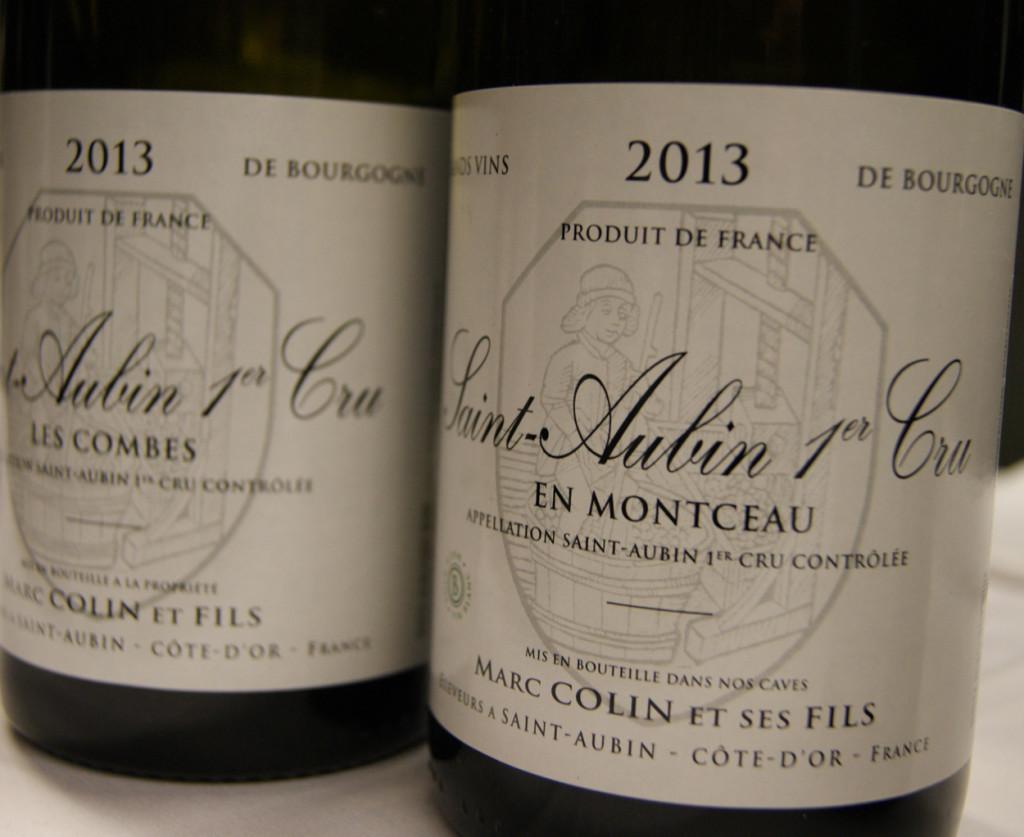Marc Colin Saint-Aubin 1er Cru en Montceau og Les Combes 2013
